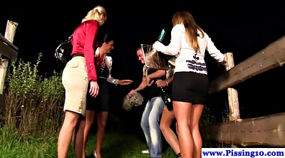 Behind, Euro group, Peeing group, Outdoor pissing, Outdoor orgy