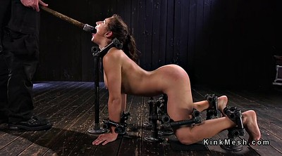 Pain, Bound, Huge dildo, Painful