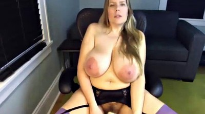 Huge dildo, Saggy, Mom masturbation, Saggy tits