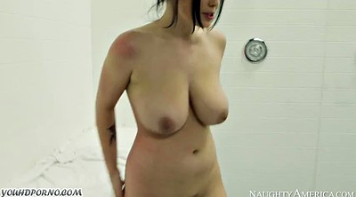 College, Baby, In the shower, Amateur big tits