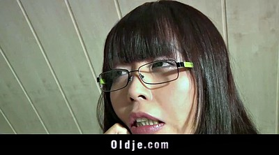 Swallowing, Old teacher, S cute, Granny teacher, Asian granny