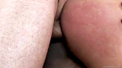 Double pussy, Interracial anal
