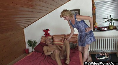 Granny, My mom, Law, Horny mom, Happy, Milf young
