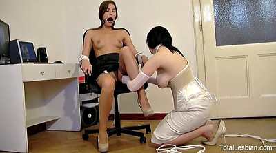 Milf, Young lesbians, Tied tits, Teen bondage
