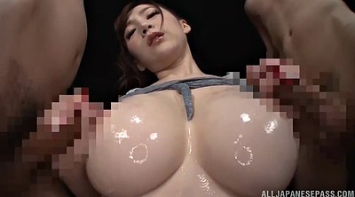 Japanese blowjob, Oil, Japanese threesome, Japanese double penetration