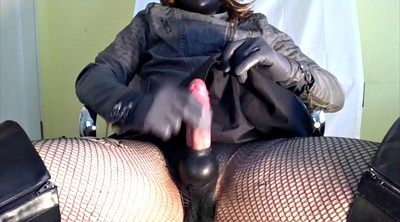Crossdresser, Leather, Big machine