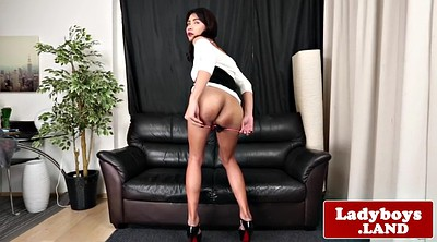 Asian ladyboy, Asian big ass, Jerk off, Big ass shemales