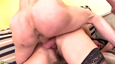 Young son, Old mom, Mom fuck son