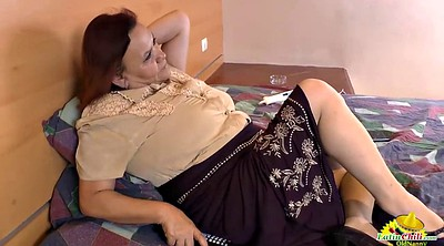 Mature masturbating, Granny latina
