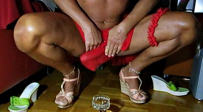 Skirt, Shemales cumming, Highheel, Red, Drink