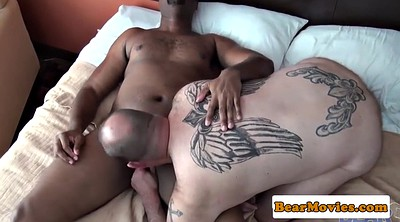 Interracial anal, Big white ass