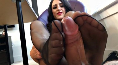 Footjob, Office, Pantyhose footjob, Pantyhose foot, Office foot