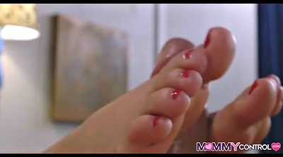 Mom feet, Catch, Young daughter, Mom footjob, Mom daughter, Mom caught