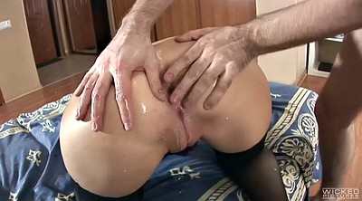 Oil ass, Phat ass, Anal gaping, Anastasia, Big ass anal, Brutal anal