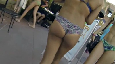 Teen, Beach, Candid big ass, Candid ass