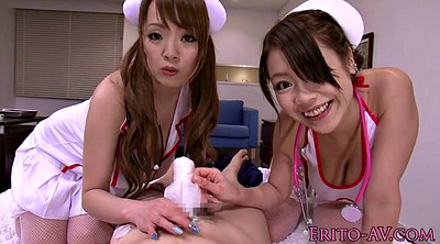Japanese nurse, Japanese threesome, Japanese big tits, Fetish