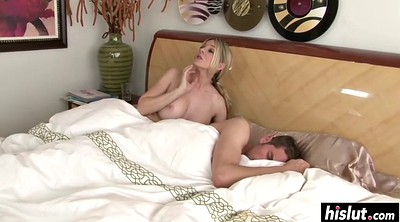 Blonde mature, Threesome anal