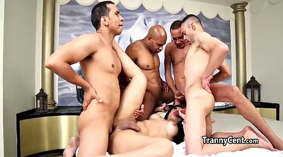 Interracial group, Interracial gangbang, Four