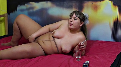 Smoking, Russian bbw
