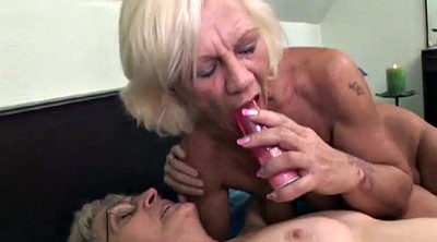 Hairy mature, Kissing lesbians