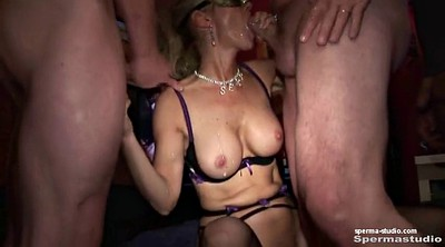 Bukkake, Cum in mouth, Group creampie, German creampie