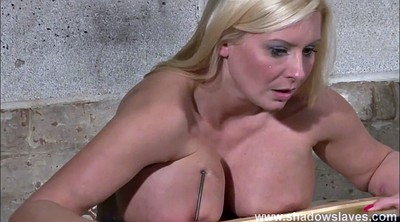 Needle, Slave, Needling, Needles, German bdsm, Blond slave