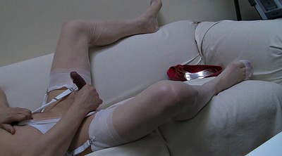 Stockings masturbation, Stockings masturbating, White stockings, White pantyhose, Red stockings, Pantyhose gay