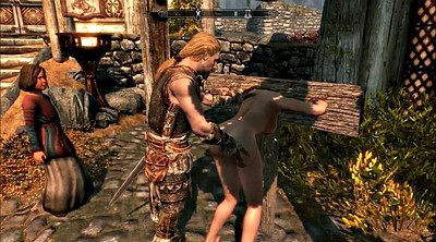 Cartoon, Public bondage, Skyrim