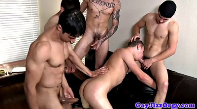 Gay group, Ride, Gaping, Orgy anal