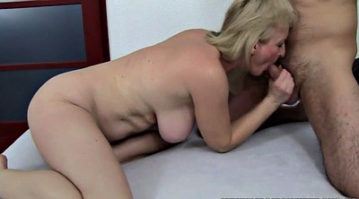 Stepson, Mature blonde anal, Granny mom