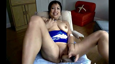 Mature, Asian granny, Asian webcam
