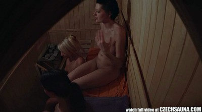 Spy, Sauna, Spying, Spy cam, Smoking girls, Czech voyeur