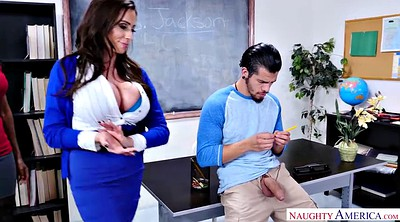 Pantyhose fuck, School, Black pantyhose, Teacher threesome