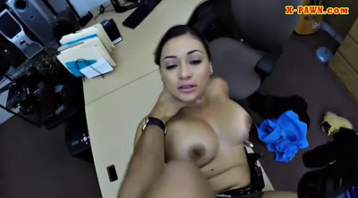 Huge, Huge tits, Booty, Pawn, Police office