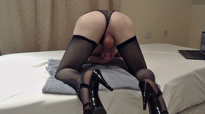 Panty, Stockings cum, Stocking heels, Stocking cum, Gay cum