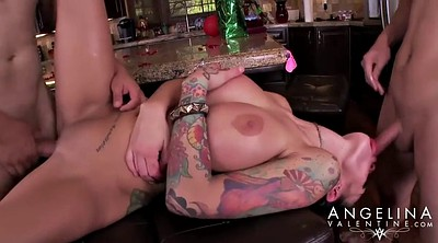 Threesome party, Angelina valentine