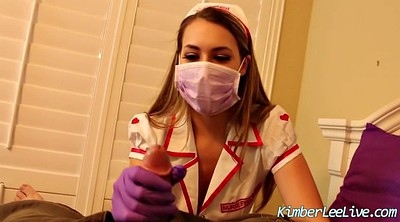 Latex, Nurse, Gloves, Gloves handjob, Glove handjob