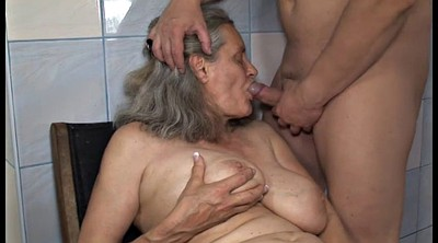 Bathroom, Grandson, Granny blowjob
