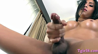 Ladyboy, Huge boobs, Dutch, Ladyboy solo, Huge dildo shemale