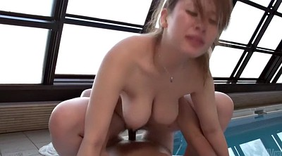 Missionary, Japanese busty, Japanese big tit, Titty fuck