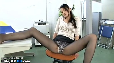 Nylon foot, Japanese pantyhose, Japanese massage, Handjob, Nylon feet, Japanese foot