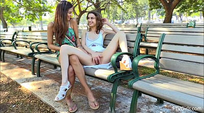 Nina, Public nudity, Play game, Outdoor lesbian
