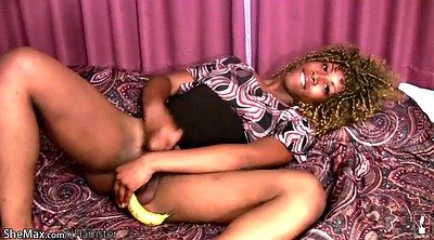 Squirting, Toy squirt, Ebony pantyhose, Black pantyhose, Shemale pantyhose, Banana