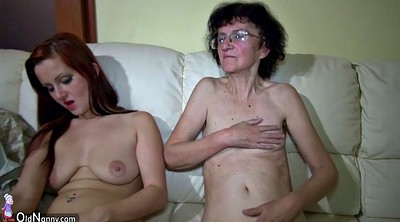 Granny masturbation, Old and young