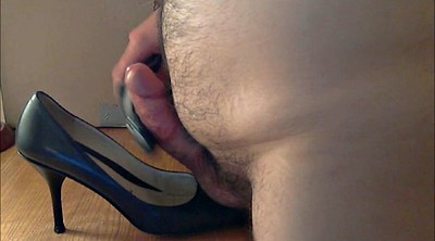 Leather, Shoes, Heels fuck, Gay shoe, Dark, Cum shoes