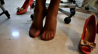 Shoes, Shoe feet, Office feet, Foot fetish, Sexy lingerie, Office foot