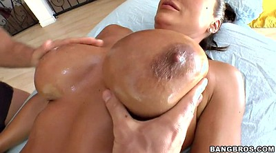 Lisa ann, Oil massage, Massage big