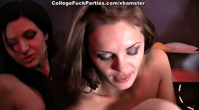 Party, Swallow, Party anal, Lesbian orgy, Couple anal