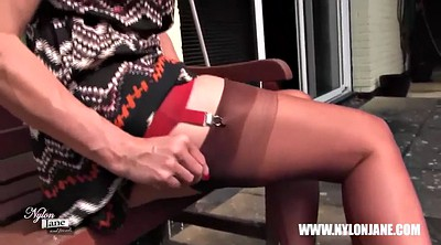 Nylon, Tall, Walk, Nylon stockings, Nylon feet