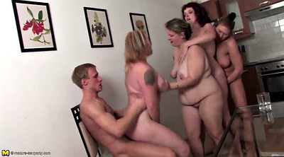 Old mom, Mature group sex, House, Young boys, Old granny, Mom boy
